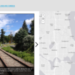 A story map of the Cross Kirkland Corridor showing current and potential access points.