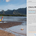 3D Story map highlighting various projects on which The Trust for Public Land has worked on the Island of O'ahu in Hawai…